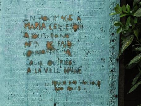 """...""""a María. Aquella que dio todo con el fin de dar a conocer a la casta obrera en la Villa Alta"""". (Bruselas)"""