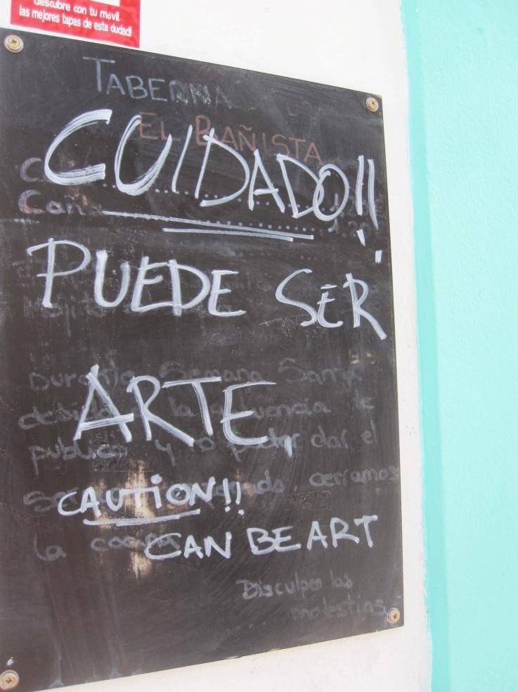 A veces hay que avisar de que algo pueda ser arte (Córdoba)